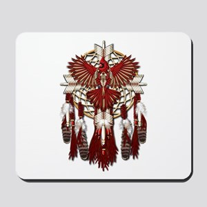 Native Cardinal Mandala Mousepad